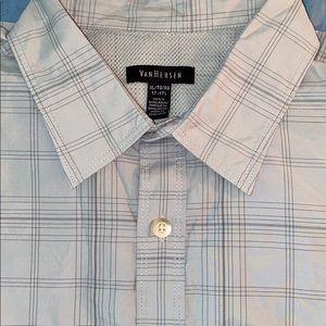 Size XL 17-17 1/2 Van Heusen SS Shirt Mens New